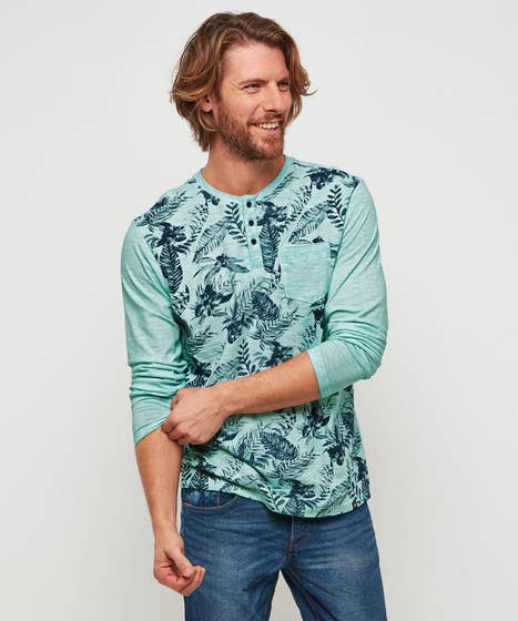Funky And Fun Floral Henley Top