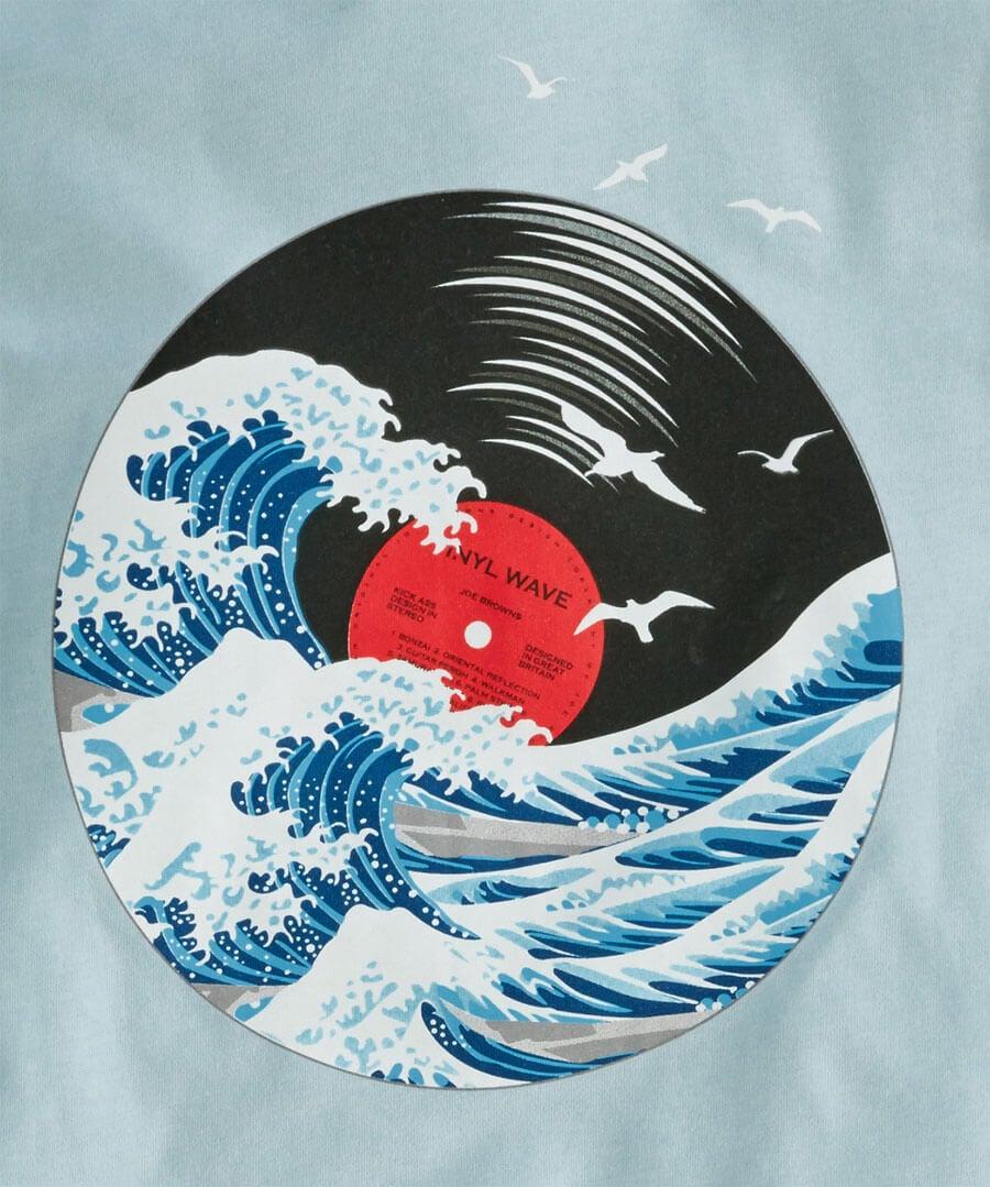 Vinyl Wave Top Back