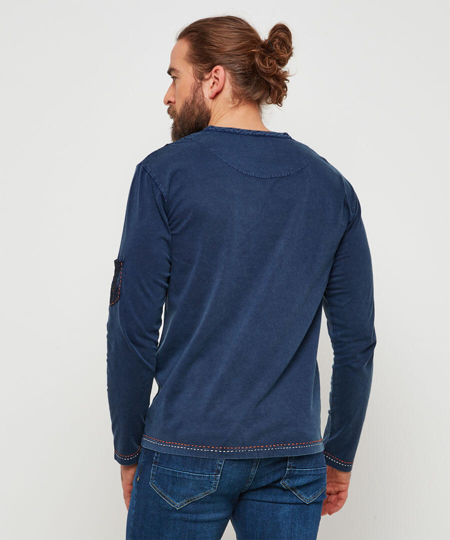 One Of A Kind Henley Model Back