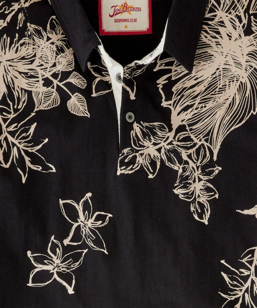 Funky Floral Polo Back