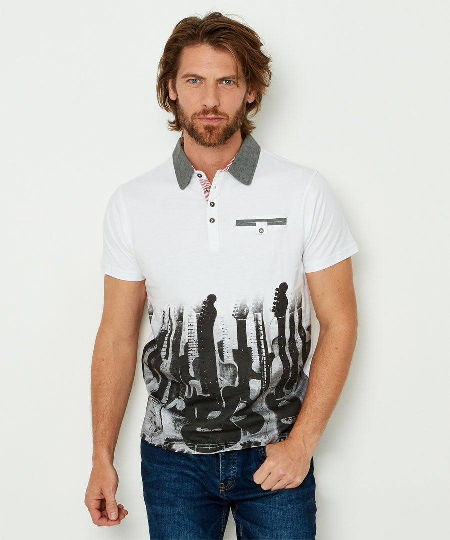 Play To Your Own Beat Polo Model Front
