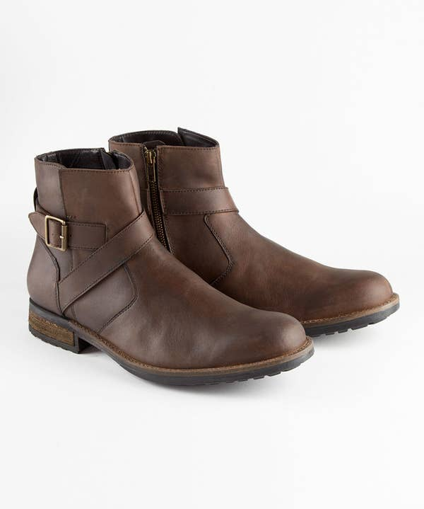 Oiled Leather Biker Boots