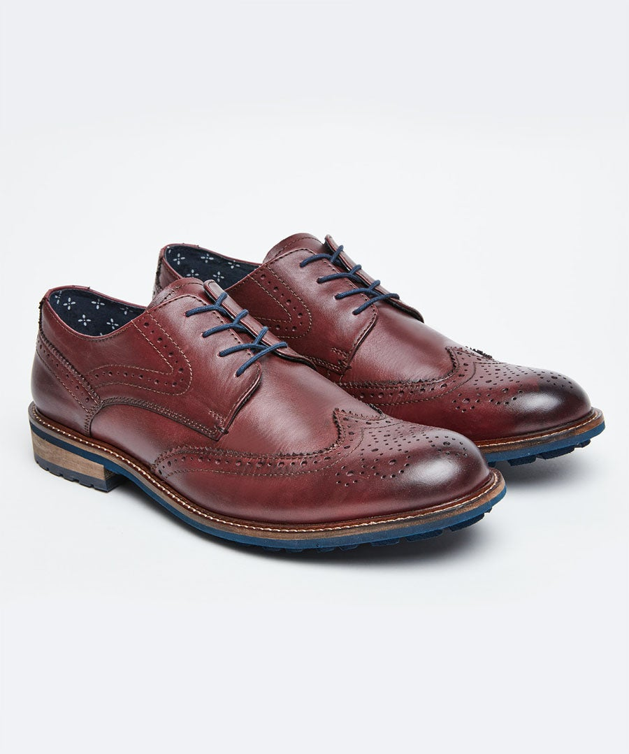 Get Smart Leather Brogues Model Front