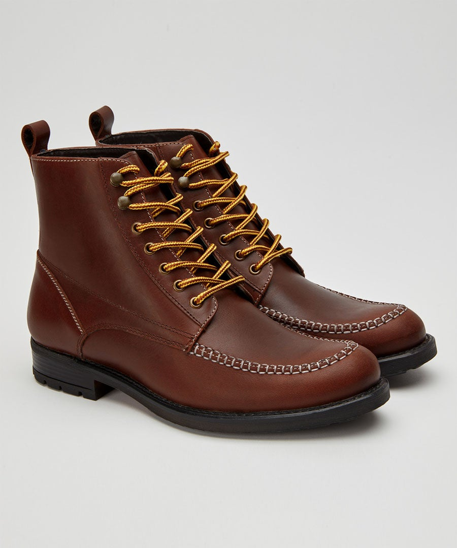 Easy Life Leather Boots Model Front