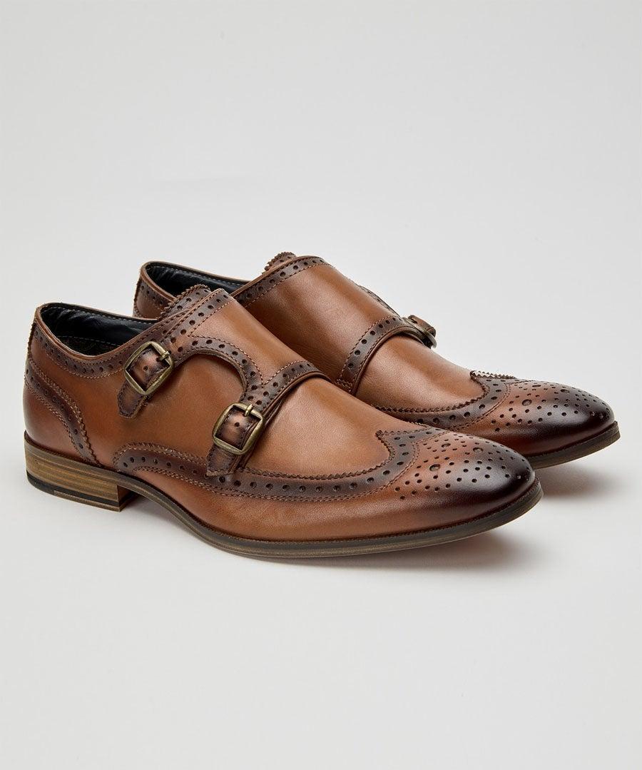Gentlemens Monk Strap Shoes Model Front