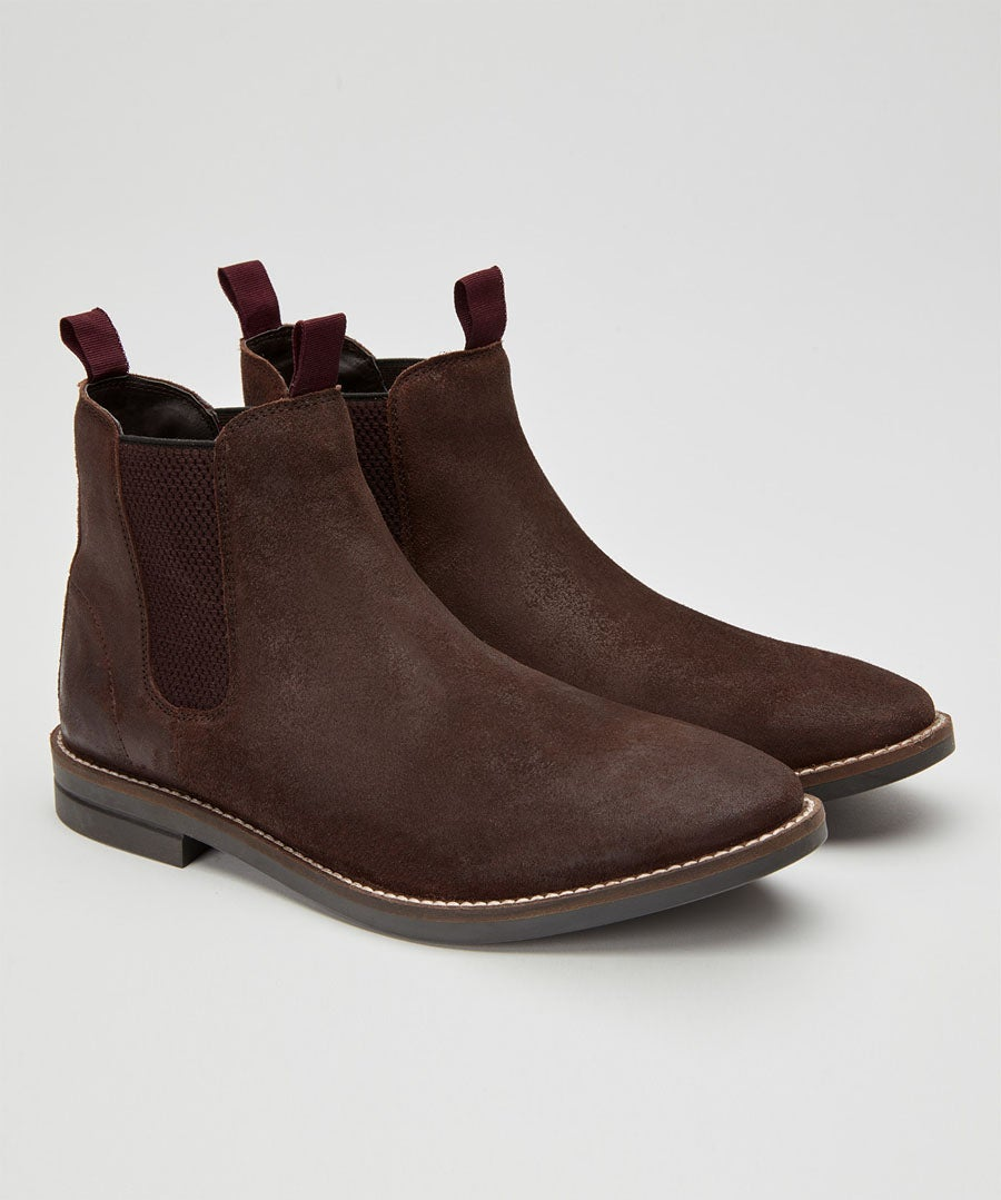 Distressed Chelsea Boots Model Front