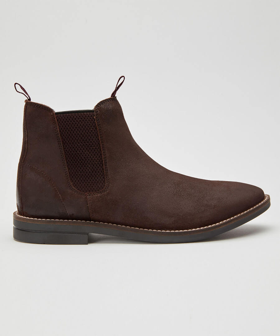 Distressed Chelsea Boots