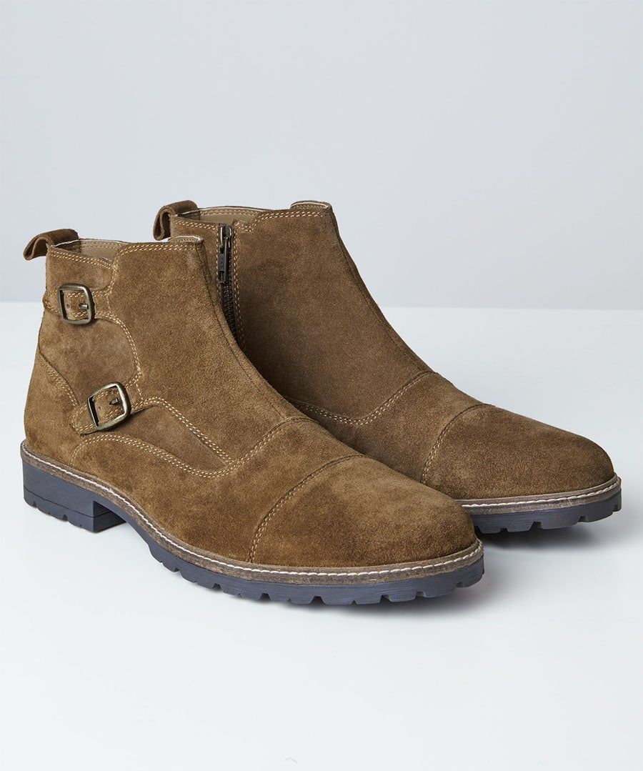 Double Monk Strap Boots