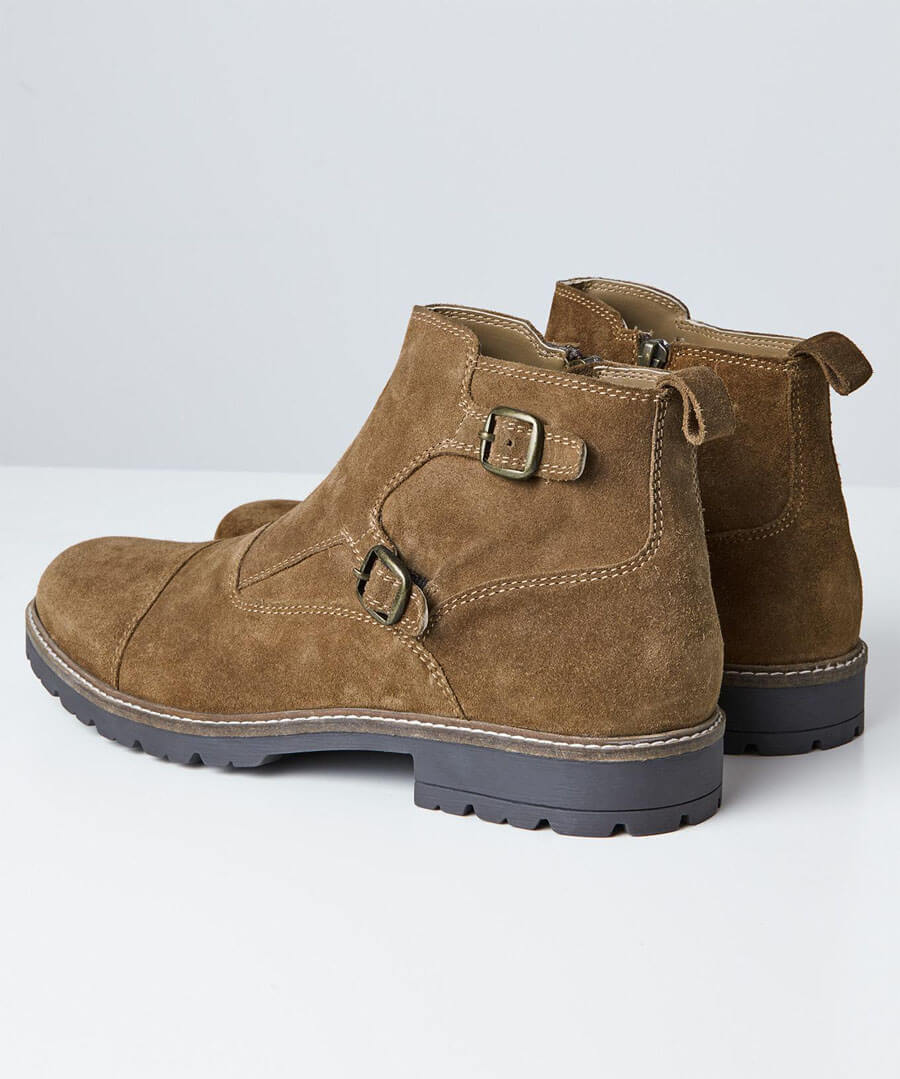 Double Monk Strap Boots Model Back