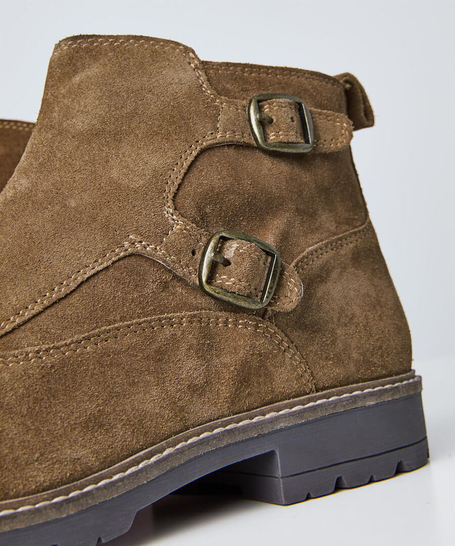 Double Monk Strap Boots Back