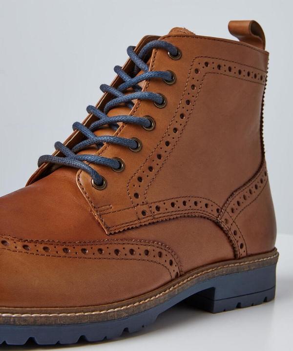 Harrison Tan Brogue Boots