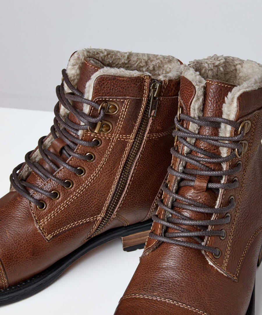 Aviator Leather Boots Back