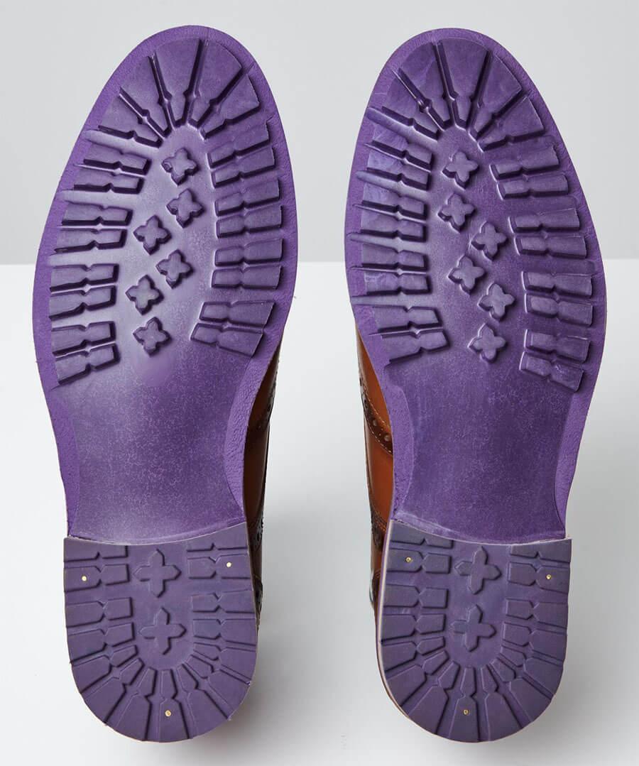 Violet Flash Brogues