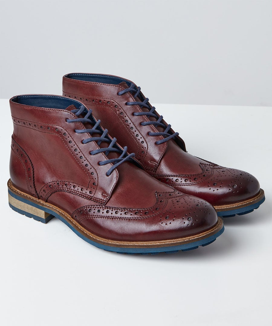 Tuscany Brogue Boots Model Front