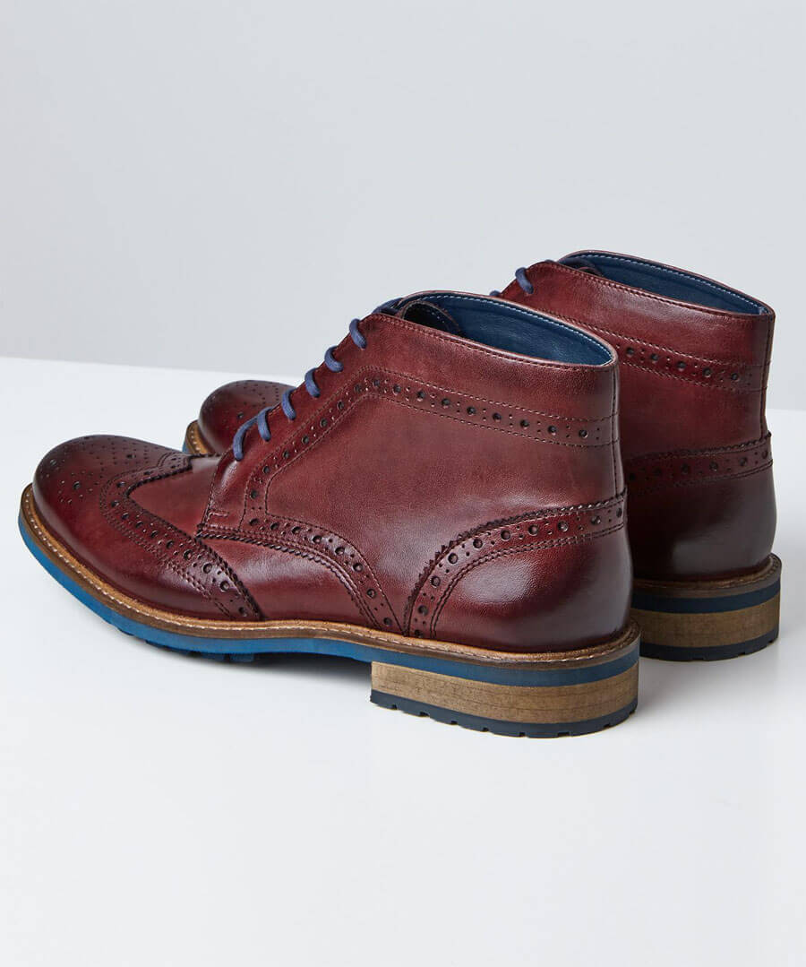 Tuscany Brogue Boots Model Back