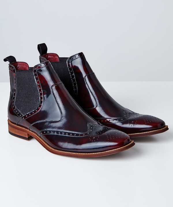 Jazzy High Shine Chelsea Boots