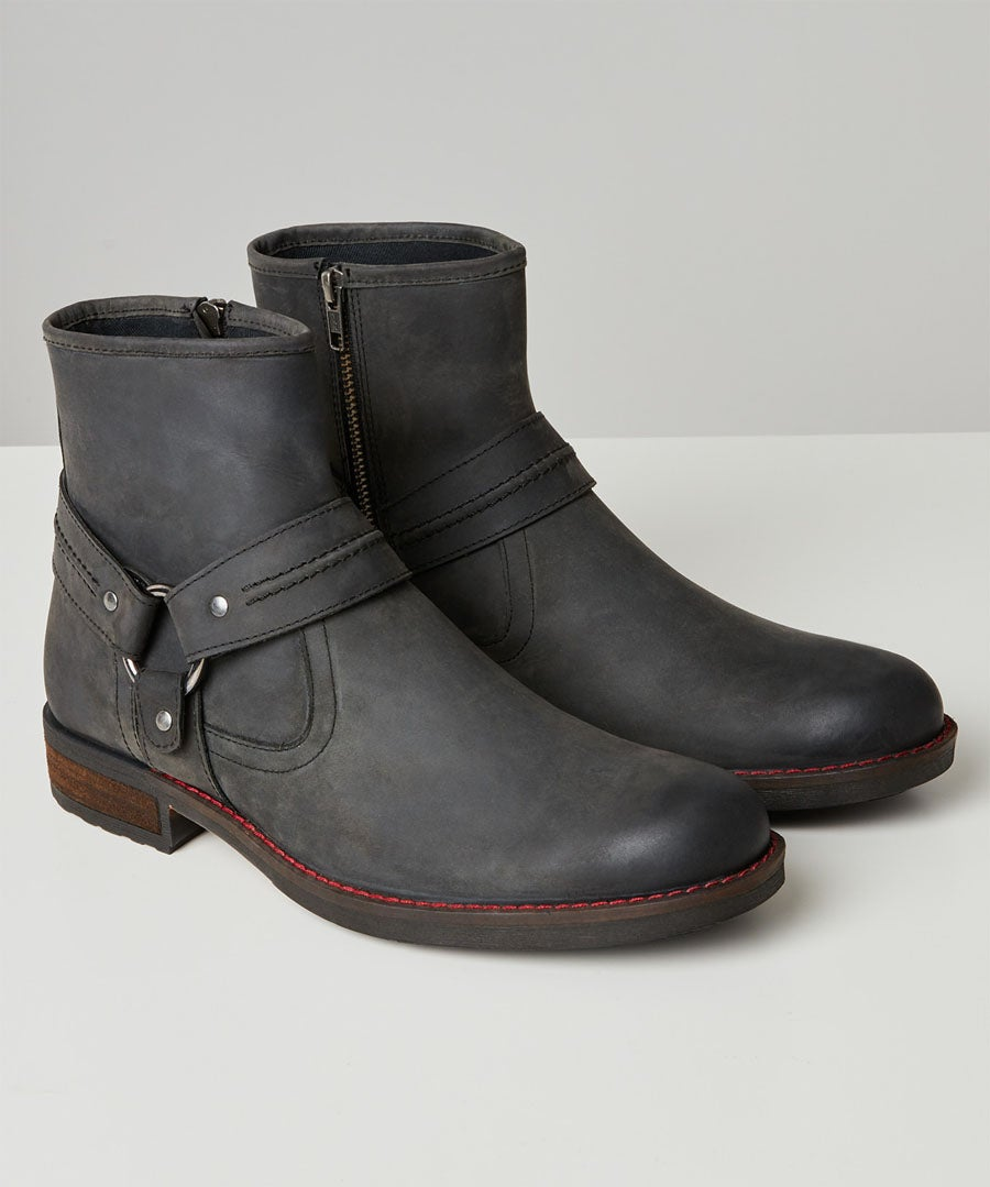 Houston Oiled Leather Boots Model Front
