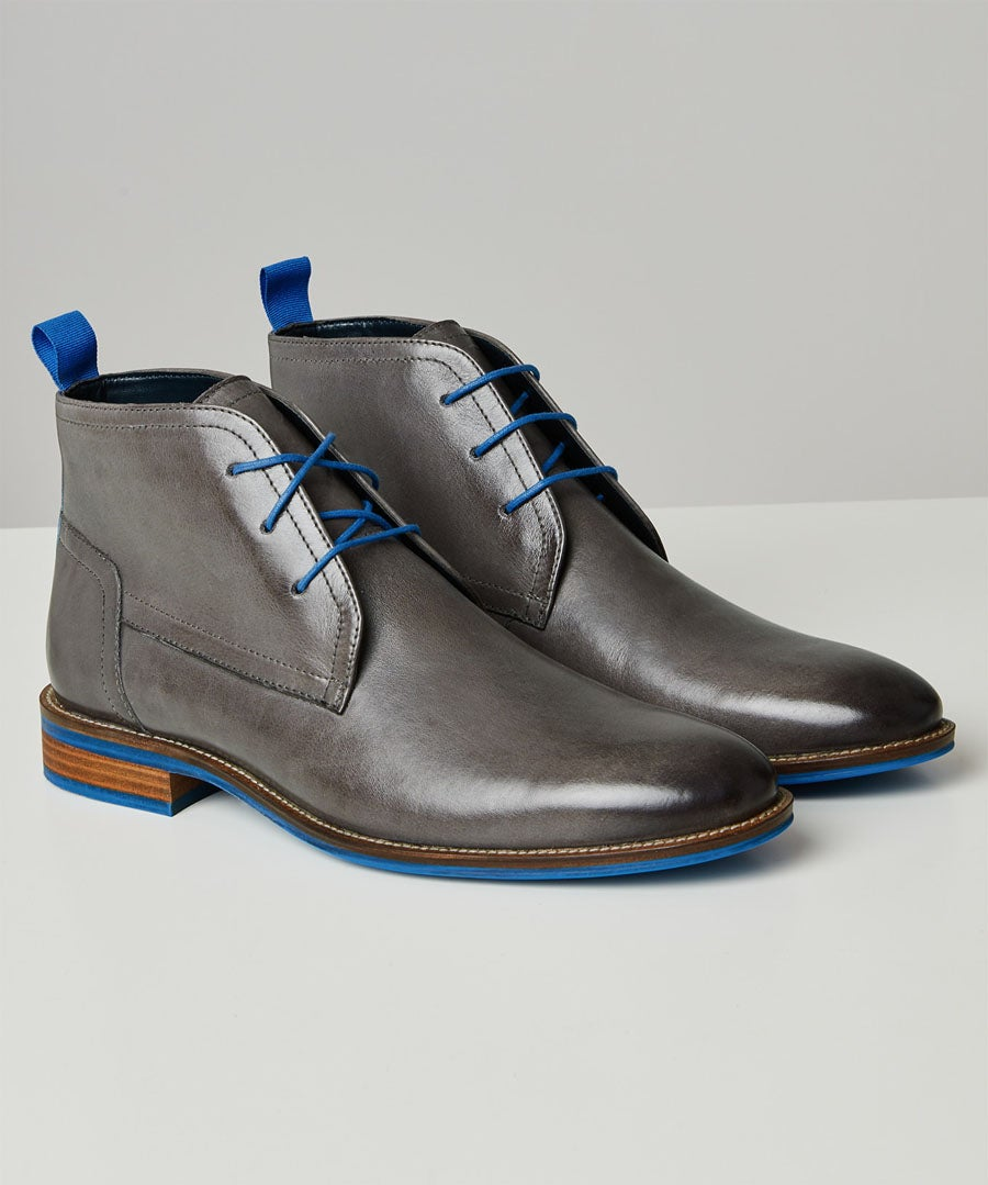 New Territory Blue Flash Boots Model Front