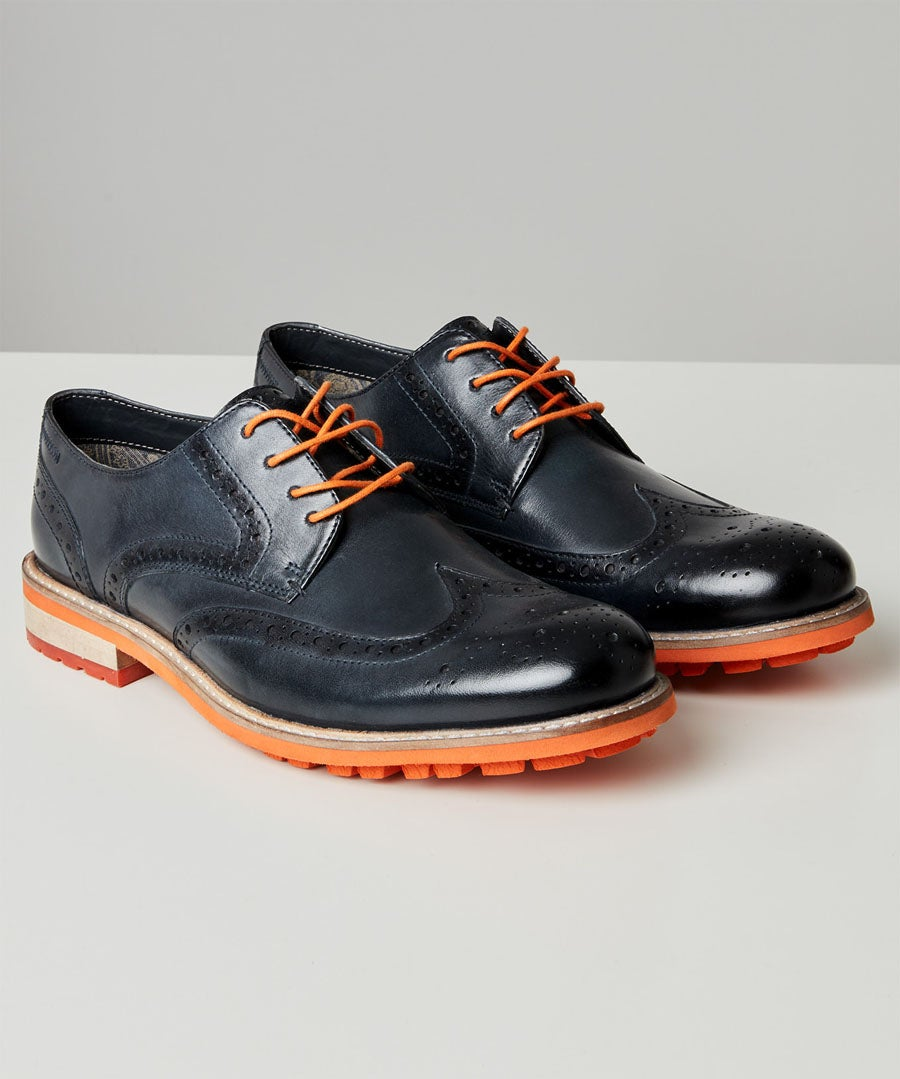 River Oaks Leather Brogues Model Front
