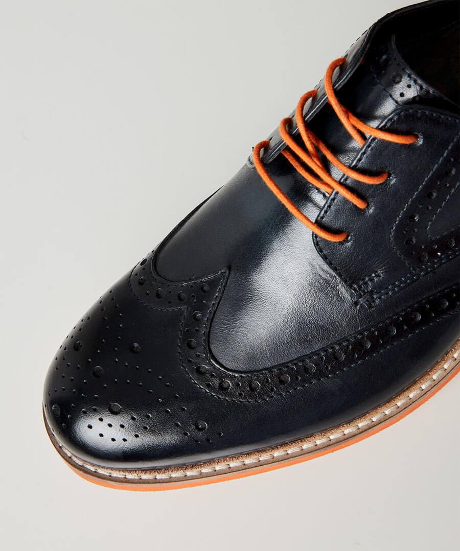 River Oaks Leather Brogues Model Back