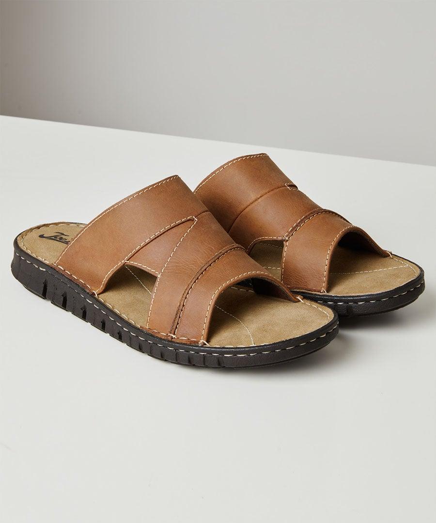 Southside Leather Sandals Model Front
