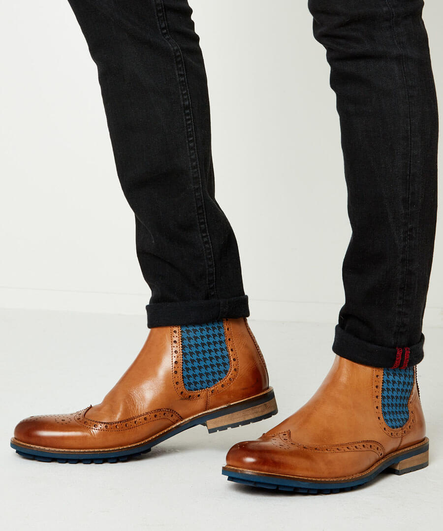 Austin Leather Chelsea Boots Back