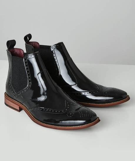 Ultimate High Shine Leather Chelsea Boots