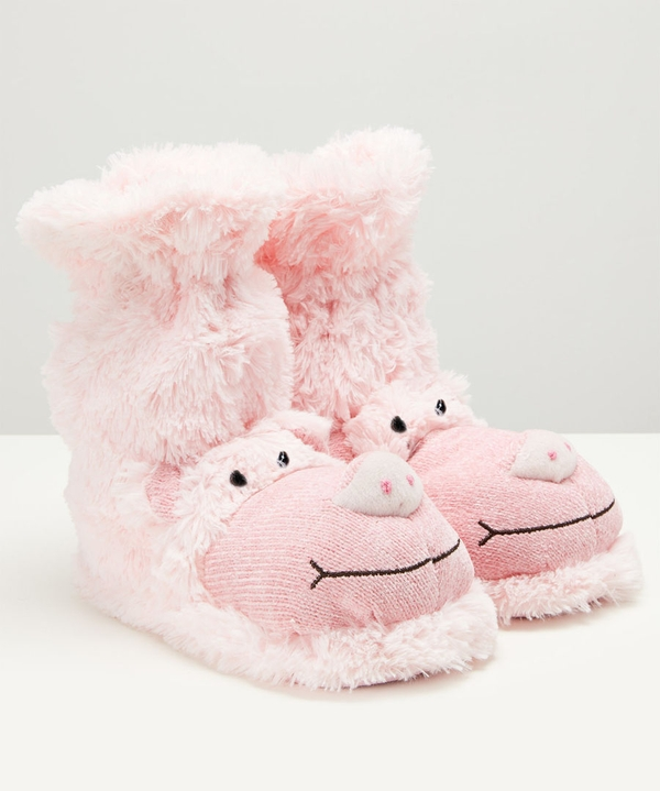 Fluffy Piggy Slippers