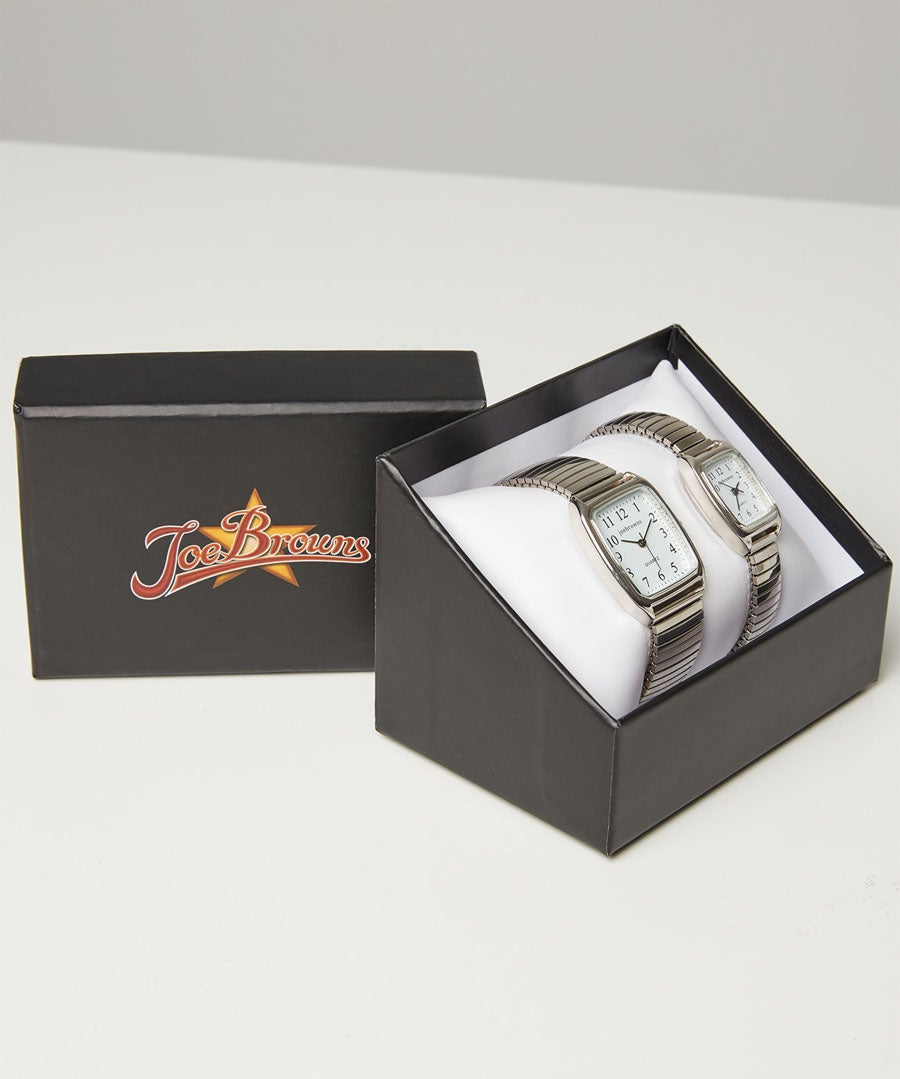 Joe Browns His And Her Watch Set Model Front