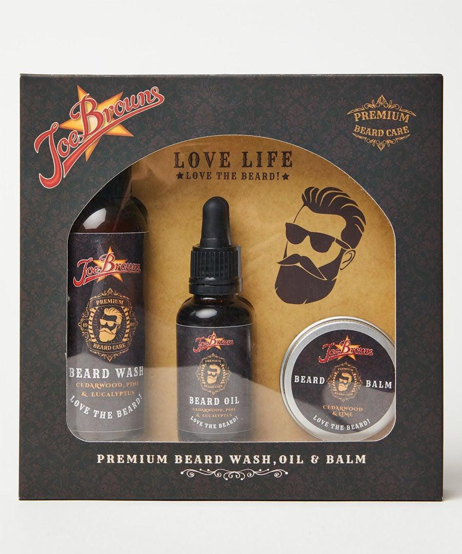 Joe Browns Beard Grooming Set Model Front