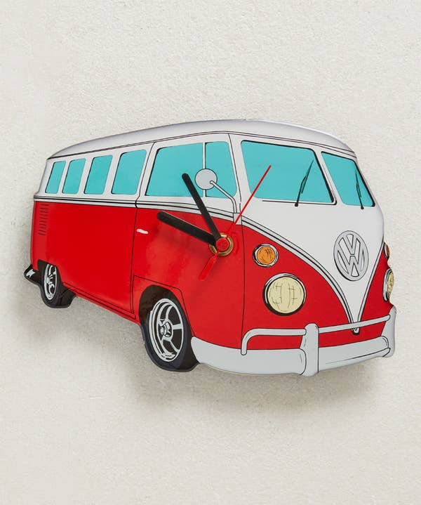 VW Red Cut Out Clock