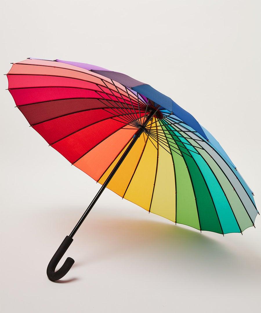 Rainbow Umbrella Model Front
