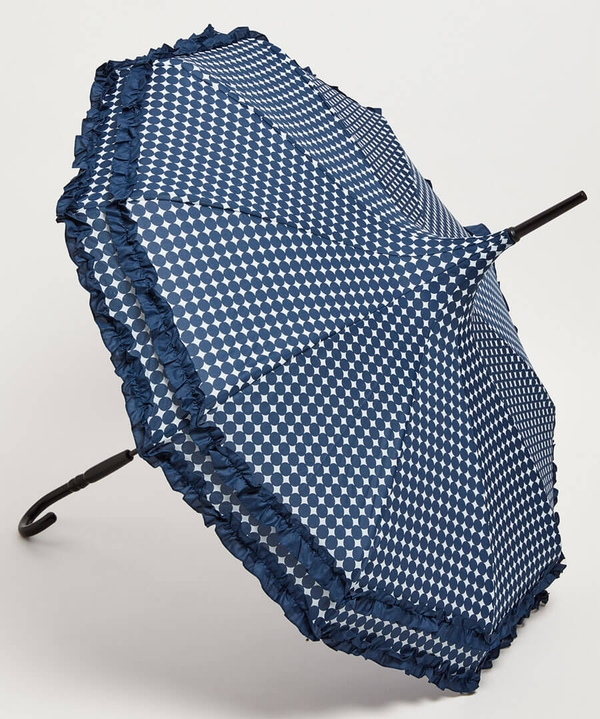 Boutique Frill Polka Dot Umbrella