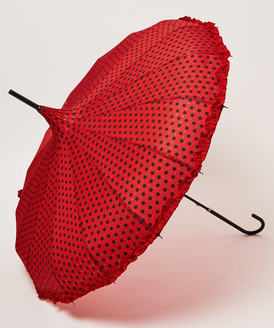 Frills And Sparkles Spot Umbrella Model Front