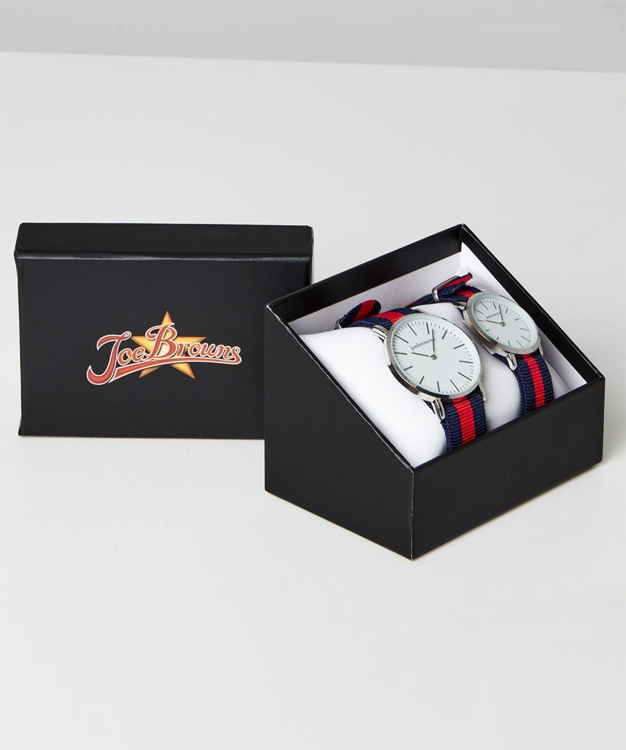 His And Hers Funky Watches Model Front