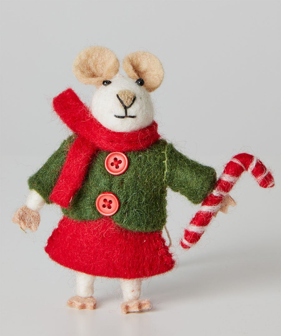 Felt Christmas Mouse Model Front