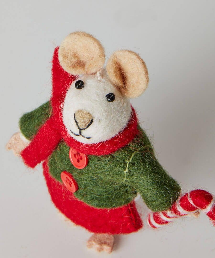 Felt Christmas Mouse Model Back