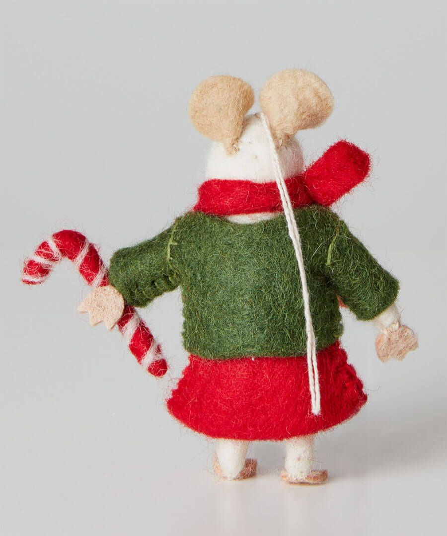 Felt Christmas Mouse Back