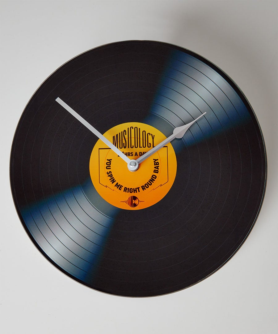 Rock On Vinyl Clock Model Front