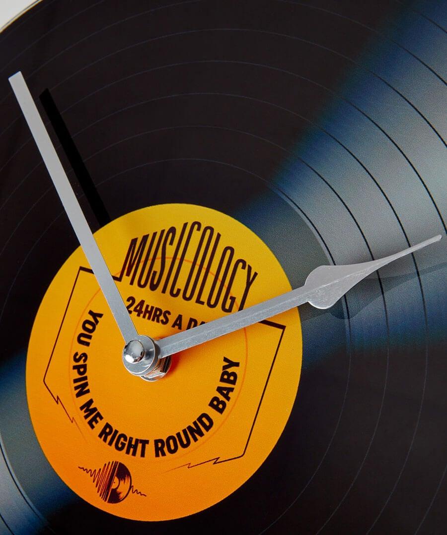 Rock On Vinyl Clock