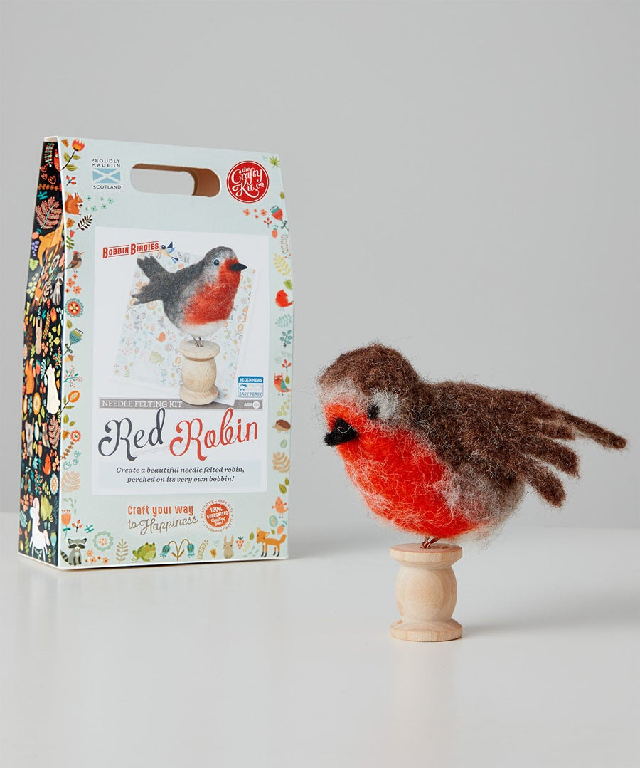 Robin Felt Wool Craft Kit Model Front