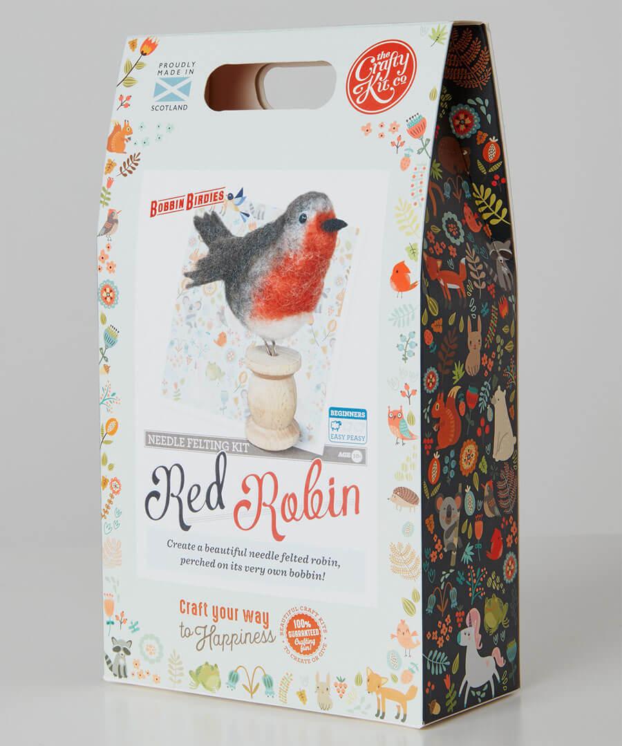 Robin Felt Wool Craft Kit Model Back