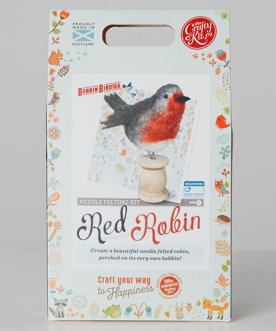 Robin Felt Wool Craft Kit Back