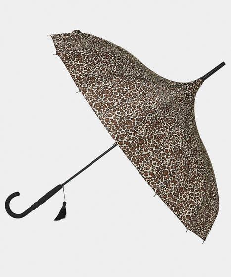 Leopard Pagoda Luxury Umbrella