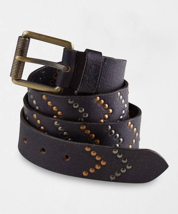 Super Studded Leather Belt
