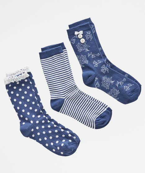 Pack Of 3 Pretty Socks
