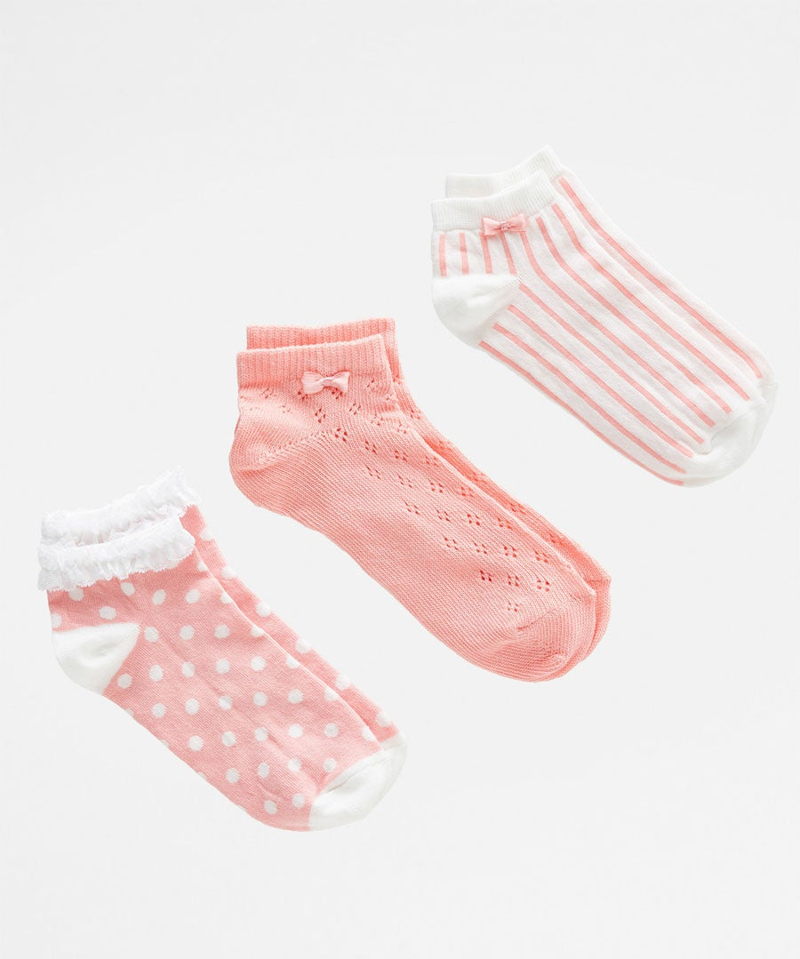 Pack Of 3 Dainty Socks