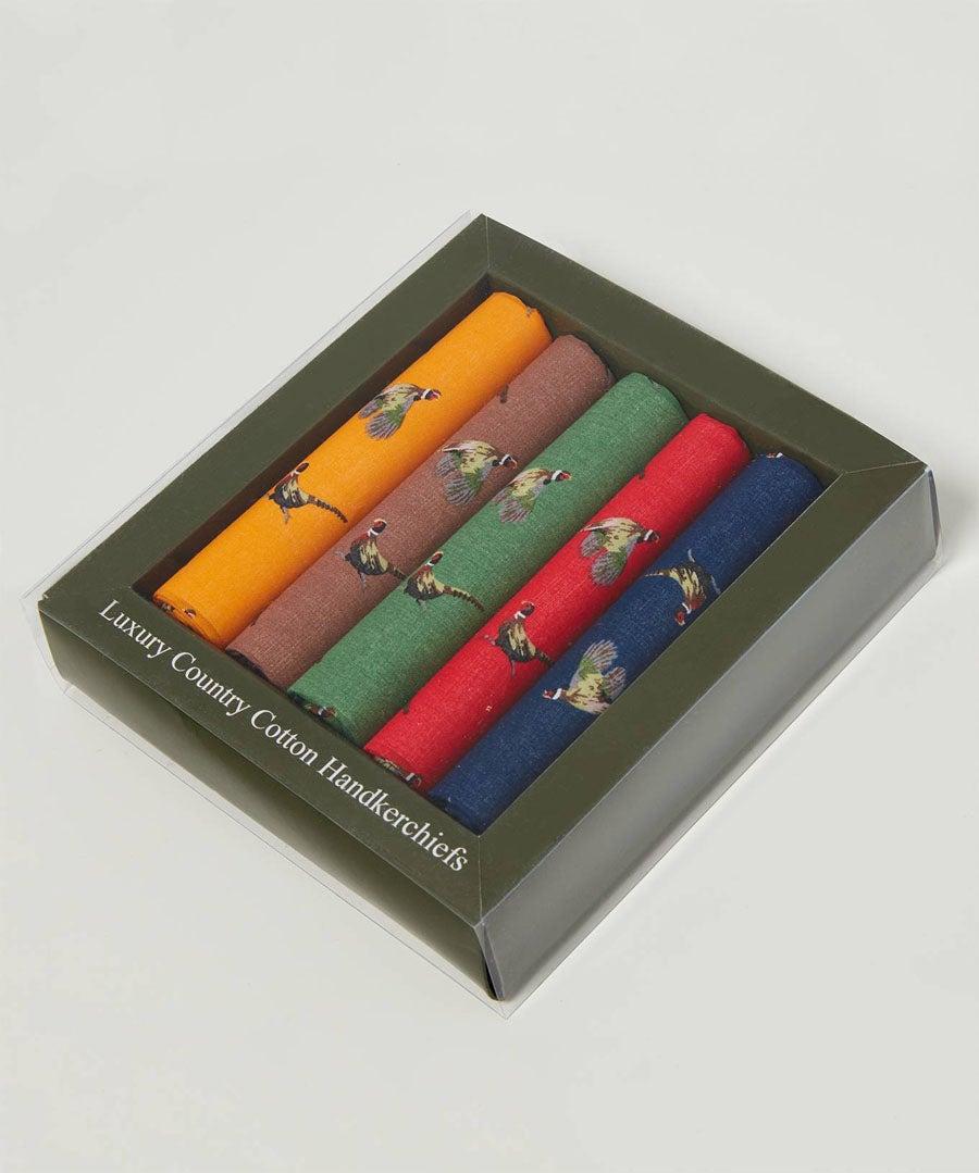 Pack Of 5 Pocket Squares Model Front
