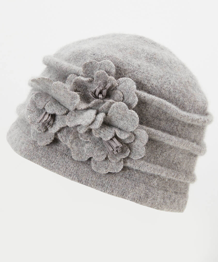 Dolores Wool Hat Model Back