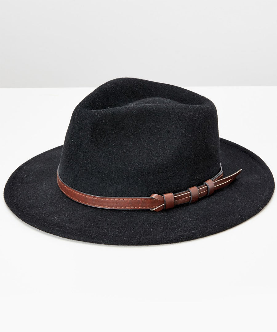 Wool Fedora Model Front
